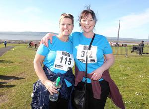 Northern Ireland-  23rd May 2013 Mandatory Credit - Photo-Jonathan Porter/Presseye.  Belfast telegraph Runher Coastal Challenge 10k from Seapark to Crawfordsburn Park in Co. Down.   Left to right.  Gillian Brooks and Susan Eatock from Belfast.