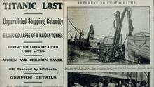 Titanic lost: Belfast Telegraph front page on 16/4/1912, one day after the disaster