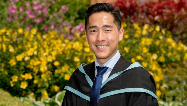Cephas Liew from Malaysia graduated with a degree in dentistry from Queens University Belfast.