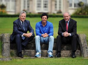 Rory McIlroy welcomed back home following his success at the Open Championship Peter Robinson and Martin McGuinness
