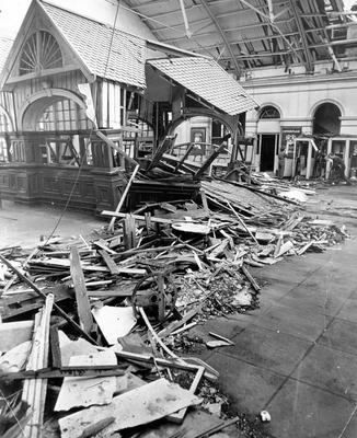 The scenes of devastation at York Road train station in 1972 on the day that became known as 'Bloody Friday'