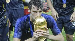 Benjamin Pavard scored a brilliant goal against Argentina during France's run to World Cup glory (Matthias Schrader/AP)