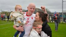 Lamh dearg's Paddy Cunningham with his partner Claire and children Aoife and Amy.
