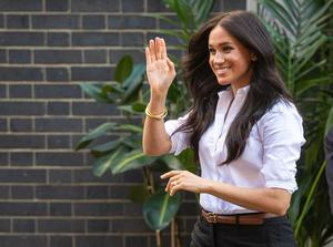 Meghan launched a capsule collection with the charity last year (Dominic Lipinski/PA)