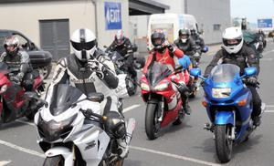 Stenna Line - NW 200 Motorcycle Spectators Arrive - 15th May 2014 Copyright Presseye / Declan Roughan  Approximately 200 motorcycle spectators arrived off the ferry in Belfast yesterday on route to the NW 200 on the North Antrim Coast.
