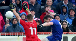 Hotshot: Conor McManus' explosive finishing against Tyrone earned him the Ulster GAA Writers' monthly merit award