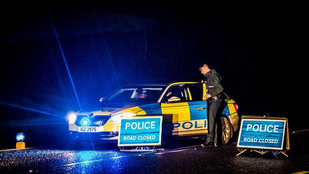 Police at the scene of a crash on the Glenavy Road in Maghaberry  on January 19th 2020 (Photo by Kevin Scott for Belfast Telegraph)