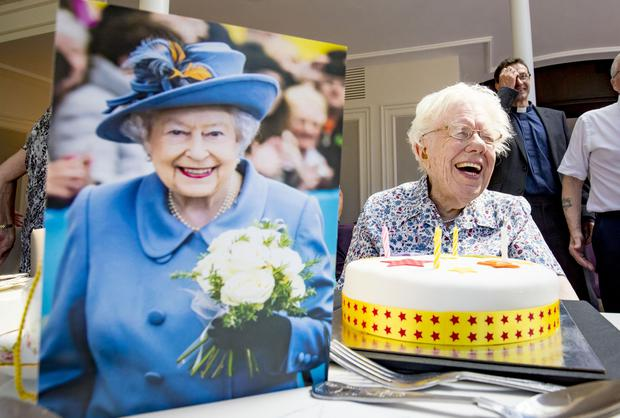 Maud Nicholl celebrates her 109th birthday at the Tullyglass hotel in Ballymena on on July 3rd 2018 (Photo by Kevin Scott for Belfast Telegraph)