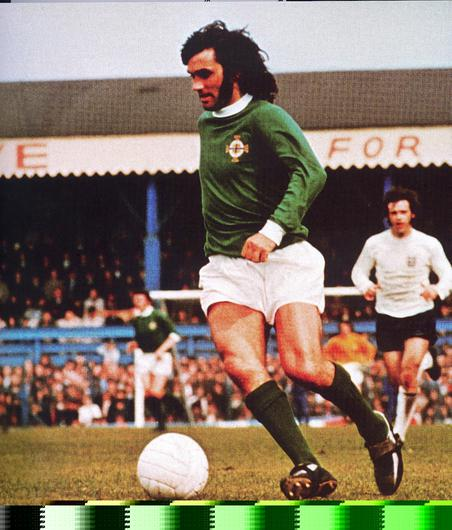 GEORGE BEST:FOOTLALL/NORTHERN IRELAND AND MANCHESTER UNITED LEGEND.