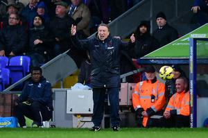 Crystal Palace manager Neil Warnock reacts on the touchline during the Barclays Premier League match at Selhurst Park, London. Adam Davy/PA Wire.