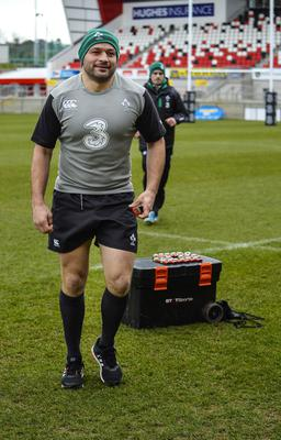?Russell Pritchard 5th March 2015 Ireland holding an open training session today  for the first time since the redevelopment of the Ground at Kingspan Stadium, Ravenhill Belfast today.  Rory Best ?Russell Pritchard / Presseye