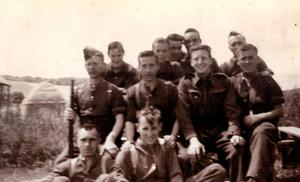 Stephen (front right) with his regiment c. 1940
