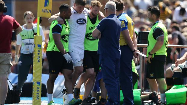 Jack Willis was forced off with a knee problem