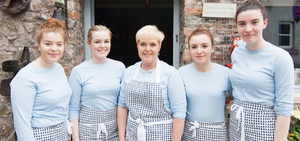 Back of Beyond staff (from left) Aimee McGee, Shannon Henderson, Ann Henderson, Leah McGee and Chloe Toal