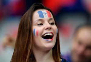The beautiful game - football fans from around the world. A French supporter is seen prior to the UEFA Euro 2016 Group A match between France and Romania at Stade de France on June 10, 2016 in Paris, France.  (Photo by Matthias Hangst/Getty Images)