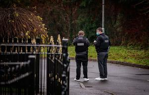 Police at the scene of a shooting incident in the Hazel Glen area of west Belfast on December 10th 2020 (Photo by Kevin Scott for Belfast Telegraph)