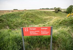 ALBERT, FRANCE - MAY 17:  The remains of trenches are seen in the Newfoundland Memorial Park at Beaumont Hamel on May 17, 2016 near Albert, France. This year will see the 100th anniversary of the start of the Battle of the Somme with a series of major ceremonies planned across the UK and France on July 1 to mark its centenary.  The Somme was one of the bloodiest battles of World War One with more than one million casualties over 141 days. The fighting began just before 7.30am on the morning of July 1, 1916 and was to become known as the British Army's bloodiest day.  (Photo by Matt Cardy/Getty Images)