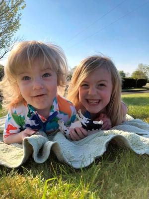 Grace with her brother Ethan