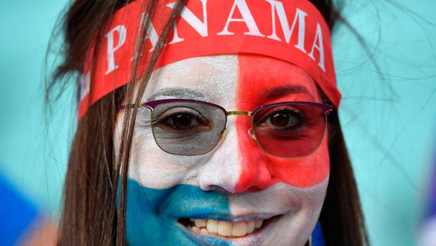 A Panama's fan cheers prior to the Russia 2018 World Cup Group G football match between Belgium and Panama at the Fisht Stadium in Sochi on June 18, 2018. / AFP PHOTO / Nelson Almeida / RESTRICTED TO EDITORIAL USE - NO MOBILE PUSH ALERTS/DOWNLOADSNELSON ALMEIDA/AFP/Getty Images