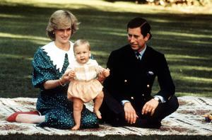 PA file photo dated 1/5/1983 of The Prince and Princess of Wales with the 9-month-old Prince William on a rug in the grounds of Government House in Auckland, New Zealand. Prince William jetted in to New Zealand last night, and today, Thursday June 30, 2005, took his place in a Lions line up as he joined the rugby stars on tour.