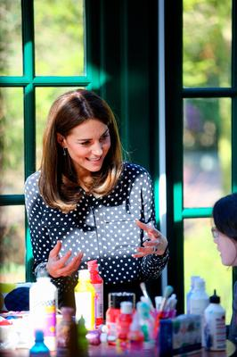 The Duchess of Cambridge speaking with members and staff at an arts and crafts area in the centre during a visit to Extern at Savannah House, in County Meath, near Dublin, as part of her three day visit to the Republic of Ireland. PA Photo. Picture date: Wednesday March 4, 2020. See PA story ROYAL Cambridge. Photo credit should read: Gerry Mooney/PA Wire