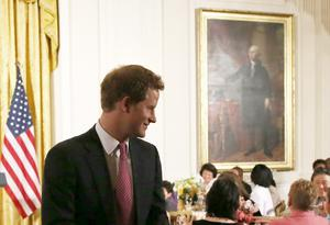 WASHINGTON, DC - MAY 09:  Prince Harry, attends an event hosted by first lady Michelle Obama to honor military families at the White House on May 9, 2013 in Washington, DC. HRH Prince Harry will be undertaking engagements on behalf of charities with which the Prince is closely associated on behalf also of HM Government, with a central theme of supporting injured service personnel from the UK and US forces.  (Photo by Mark Wilson/Getty Images)