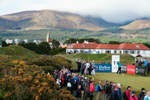NEWCASTLE, NORTHERN IRELAND - MAY 29:  Mikko Ilonen of Finland tees off on the 11th hole during the Second Round of the Dubai Duty Free Irish Open Hosted by the Rory Foundation at Royal County Down Golf Club on May 29, 2015 in Newcastle, Northern Ireland.  (Photo by Andrew Redington/Getty Images)