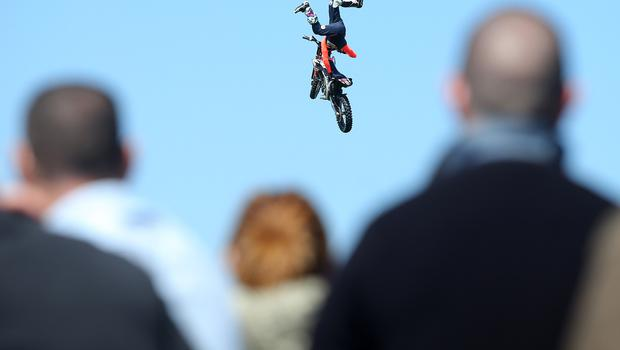 Press Eye - Belfast - Northern Ireland - 17th May 2018  Second day of the 2018 Balmoral Show, in partnership with Ulster Bank, at Balmoral Park. Freestyle Motocross as the 150th anniversary Balmoral Show continues.   Picture by Jonathan Porter/PressEye