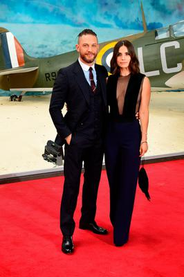 Tom Hardy (left) and Charlotte Riley attending the Dunkirk world premiere at the Odeon Leicester Square, London. PRESS ASSOCIATION Photo. Picture date: Thursday July 13, 2017. See PA story SHOWBIZ Dunkirk. Photo credit should read: Ian West/PA Wire