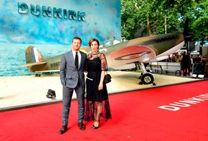 Dermot O'Leary and Dee Koppang (right) attending the Dunkirk world premiere at the Odeon Leicester Square, London. PRESS ASSOCIATION Photo. Picture date: Thursday July 13, 2017. See PA story SHOWBIZ Dunkirk. Photo credit should read: Ian West/PA Wire
