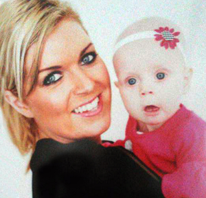 Charlene Campbell with her baby daughter Myla