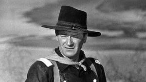 John Wayne appears during the filming of The Horse Soldiers (AP)