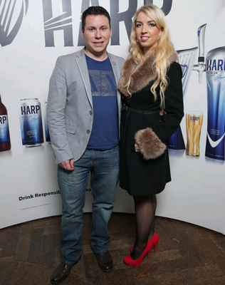 DARLING OF THE SOCIAL MEDIA SCENE: Andrew Donaldson with his girlfriend Inga Norvilyte
