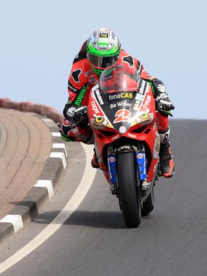 Pacemaker Belfast 12-5-18 Vauxhall International North West 200 -  superbike race Glenn Irwin (Bewiser Ducati) makes it look easy at Black Hill during today's  superbike race at the Vauxhall International North West 200 in Portrush.  Photo by David Maginnis/Pacemaker Press