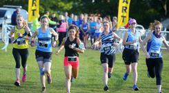 Pure Running in association with the Belfast Telegraph and Hoka Coastal 5K, 10k and Half marathon Run finishing in Crawfordsburn. The 10k gets started at Seapark. Picture by Jonathan Porter/PressEye