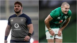 Tom O'Toole (left) has been named in Ireland's Six Nations squad but Jacob Stockdale's injury comes at an inopportune moment, with back three competition fierce.