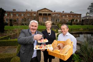 Simon Dougan (left) and Barry Smyth (right) of The Yellow Door with Gina George, Historic Royal Palaces retail director