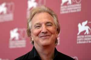 "2013: Alan Rickman poses during the photocall of ""Une Promesse"" presented out of competition at the 70th Venice Film Festival at Venice Lido. AFP PHOTO / GABRIEL BOUYSGABRIEL BOUYS/AFP/Getty Images"