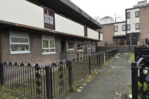 Flats have been damaged in a double arson attack. The properties, on the New Lodge Road in North Belfast, appear to have suffered extensive damage Mandatory Credit: Stephen Hamilton Presseye