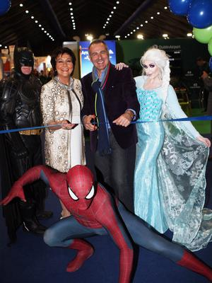 Maureen Ledwith Director of Holiday World and Paul Martin of Flog It cut the tape to open the 2019 show.  Picture by Freddie Parkinson ©