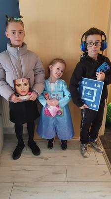 Left to right: David 10, Bronagh 3, Bradley 8 from Newtownabbey