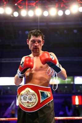 28th February 2015   ?William Cherry/Presseye  Viktor Plotnikov wins the vacant IBF Intercontinental Welterweight title contest at the Odyssey arena, Belfast.