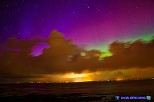 The Northern Lights, or Aurora Borealis, pictured over Donegal by Kenneth of the Donegal Weather Channel