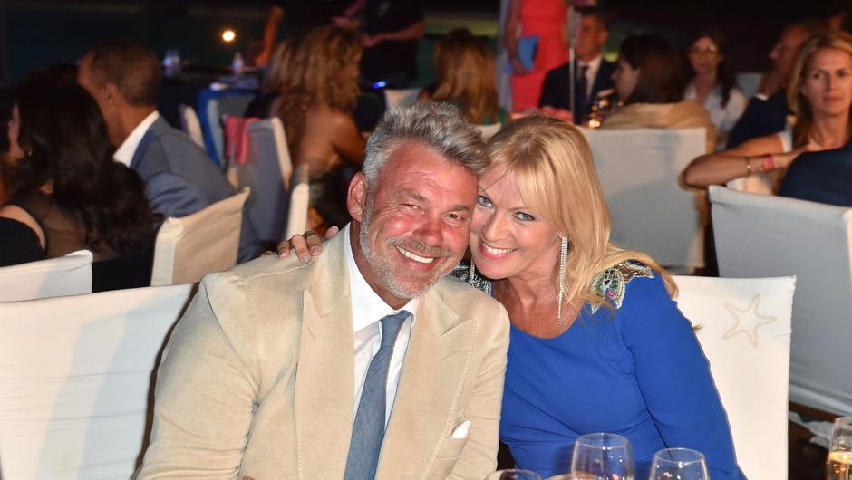 Darren Clarke and Alison Campbell attend the Gala Dinner during The Costa Smeralda Invitational golf tournament at Pevero Golf Club - Costa Smeralda on June 25, 2016 in Olbia, Italy.  (Photo by Tullio M. Puglia/Getty Images for Professional Sports Group )