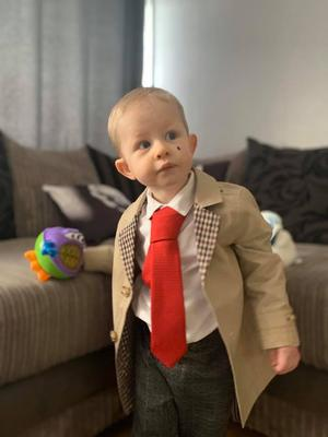 Riley James Bailey-Black as Mr Bean 18 months from Belfast