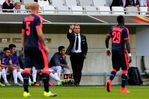 BORDEAUX, FRANCE - SEPTEMBER 17: Head coach of Liverpool FC Brendan Rodgers gestures during the Europa League game between FC Girondins de Bordeaux and Liverpool FC at Matmut Atlantique Stadium  on September 17, 2015 in Bordeaux, France.  (Photo by Romain Perrocheau/Getty Images)