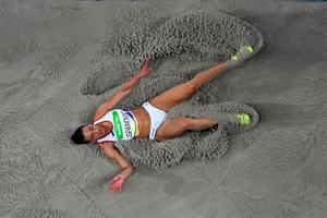 Ivana Spanovic of Serbia competes in the Women's Long Jump Final on Day 12 of the Rio 2016 Olympic Games at the Olympic Stadium on August 17, 2016 in Rio de Janeiro, Brazil.  (Photo by Ian Walton/Getty Images)