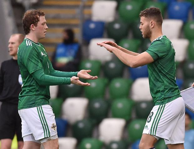 Shayne Lavery and Dion Charles were among Northern Ireland's brightest sparks during the defeat to the USA.