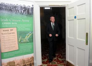 Pacemaker Press 20/3/2015 Deputy First Minister Martin McGuinness as Sinn Féin launch the programme of events to mark 100th Anniversary of the Easter Rising 1916-2016 on Friday at Clifton House
