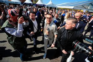 Conor McGregor on Grand National Day of the Randox Health Grand National Festival at Aintree Racecourse.  Peter Byrne/PA Wire